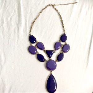 💎 Royal Purple Statement Necklace